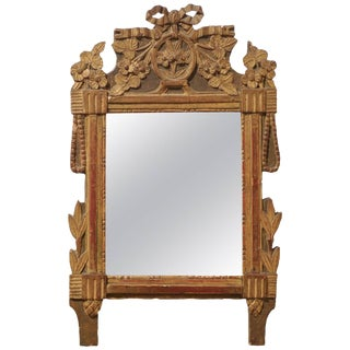 19th Century Louis XVI Style Wooden Wall Mirror