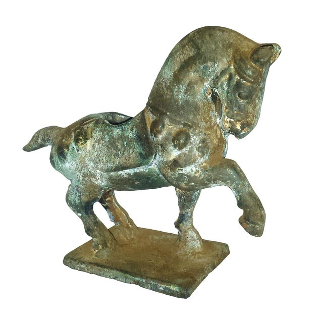 Antique Chinese Cast Iron Tang Horse Figurine - Image 1 of 7
