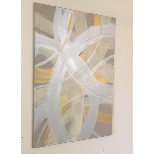 'CELESTiNE' original abstract painting by Linnea Heide - Image 4 of 8