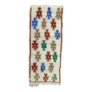 Azilal Vintage Moroccan Rug- 2′7″ × 6′4″ For Sale