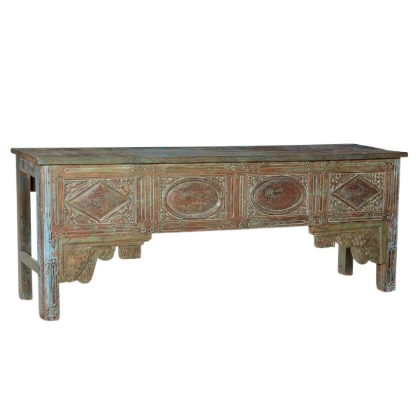 Antique Carved Wood Console Table For Sale