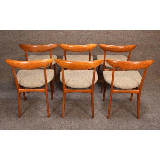 Brown Vintage Kurt Ostervig Danish Modern Teak & Oak Dining Chairs - Set of 6 For Sale - Image 8 of 11