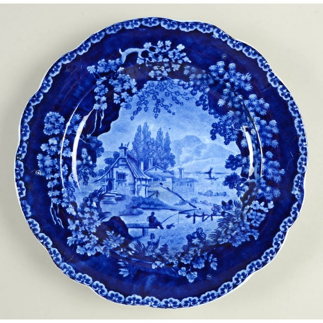 Vintage Mixed Flow Blue Dinner Plates - Set of 8 For Sale In Greensboro - Image 6 of 10