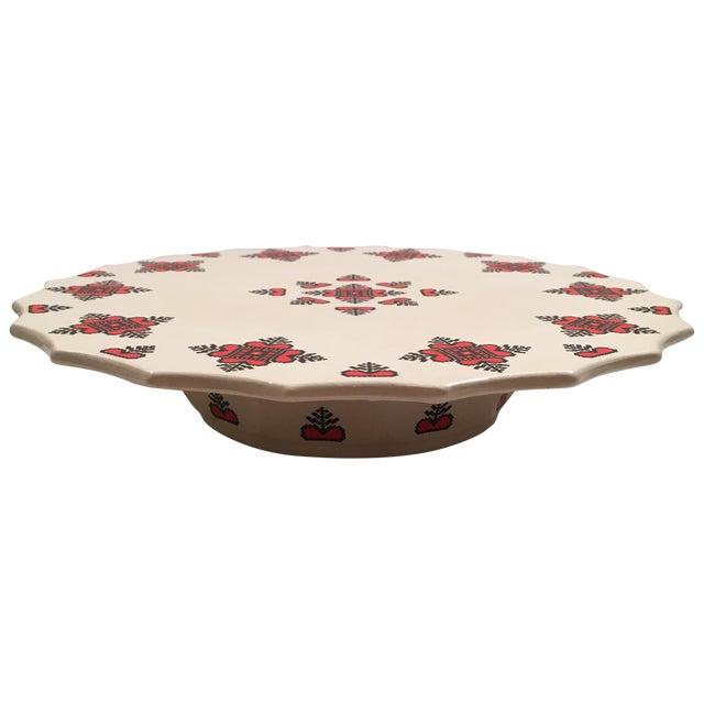 Retro Christmas Ceramic Cake or Cookie Stand - Image 1 of 8