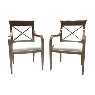 Mid-Century Modern Style Accent Chairs - A Pair For Sale