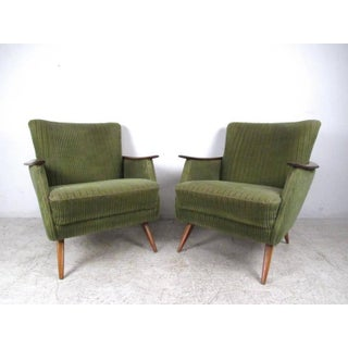 Unique Vintage Modern Danish Lounge Chairs Preview