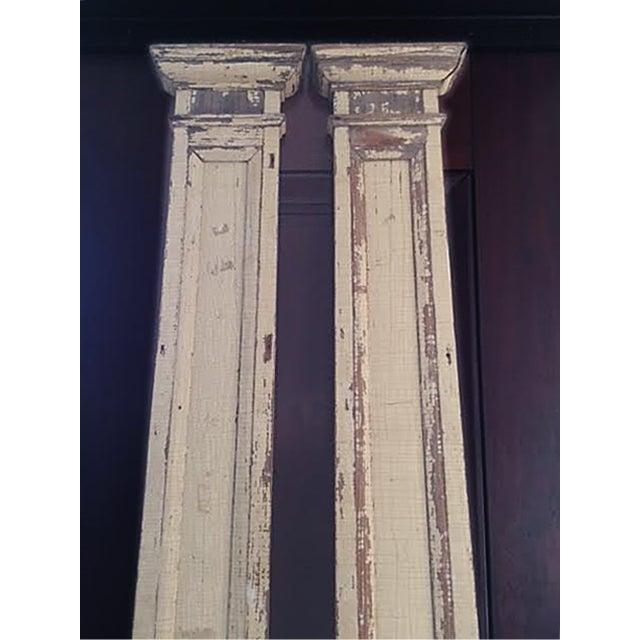 Antique Decorative Architectural Columns - Pair - Image 5 of 9