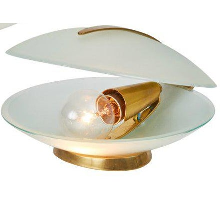 1960s Vintage Max Ingrand for Fontana Arte Glass and Brass Shell Table Lamp For Sale - Image 13 of 13