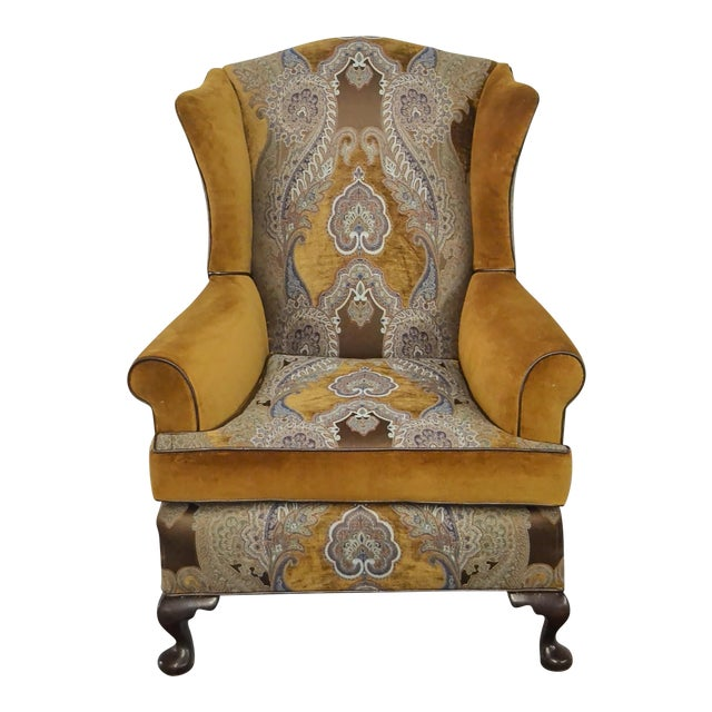 Paisley Accent Chair Under 150: Paisley Velvet Wingback Chair