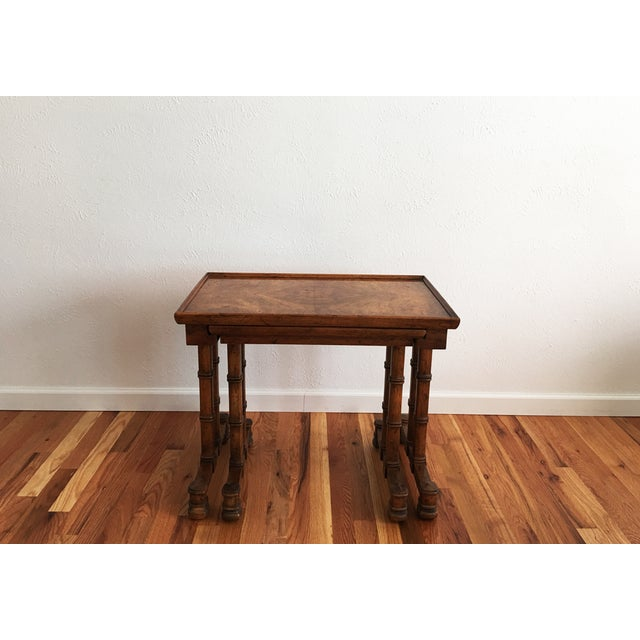 Vintage Drexel Heritage Nesting Tables - A Pair For Sale - Image 5 of 9