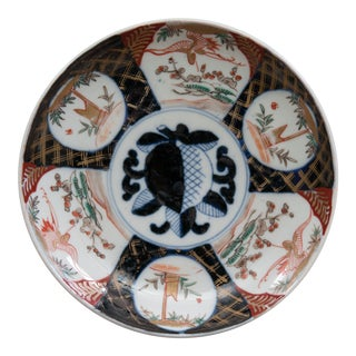 Antique Japanese Imari Hand Painted Plate For Sale