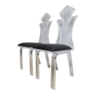 Vintage Lucite Interior Concepts Dining Chairs - A Pair