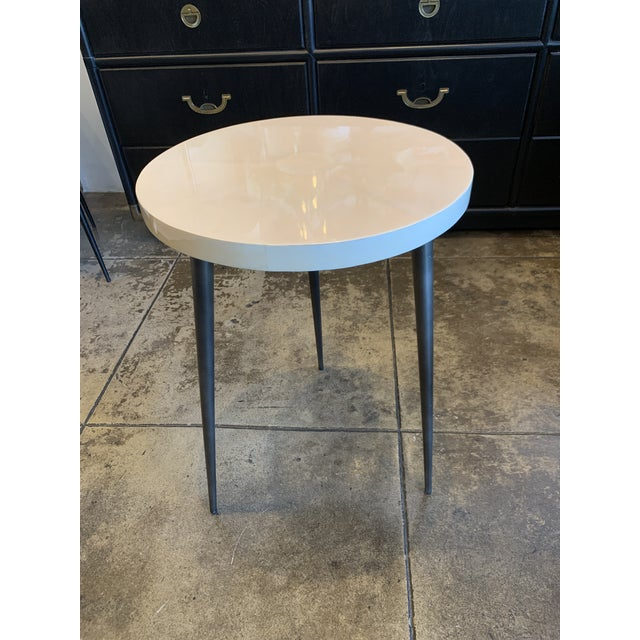 Contemporary Vellum Side Table For Sale - Image 9 of 9