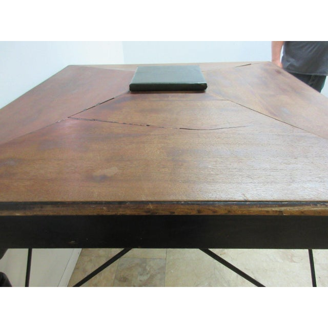 Antique Victorian Primitive Slant Top Plantation Writing Desk For Sale - Image 10 of 11