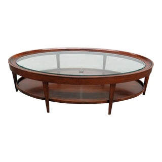 Mid-Century Style Baker Milling Road Glass Top Coffee Table For Sale