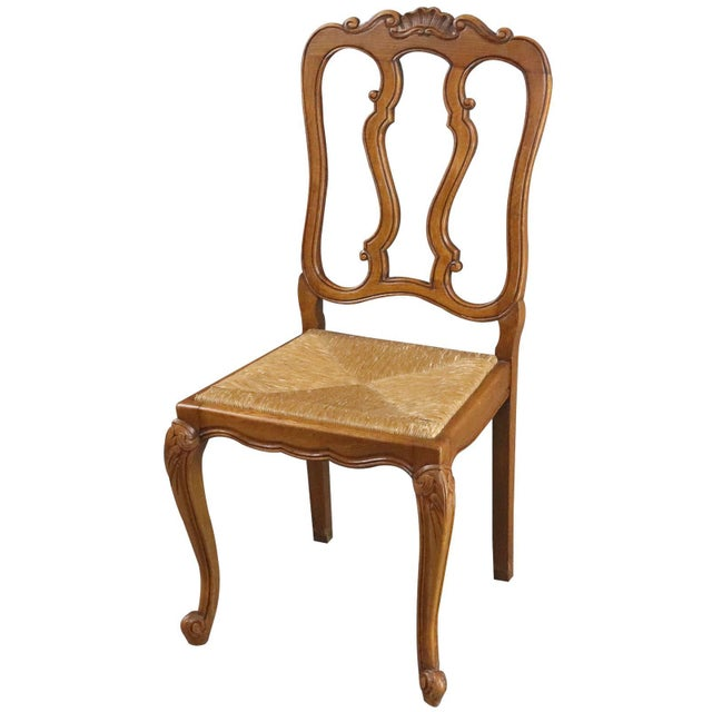 Rococo Dining Chairs Louis XV Rococo Vintage French 1950 - Set of 6 For Sale - Image 3 of 11