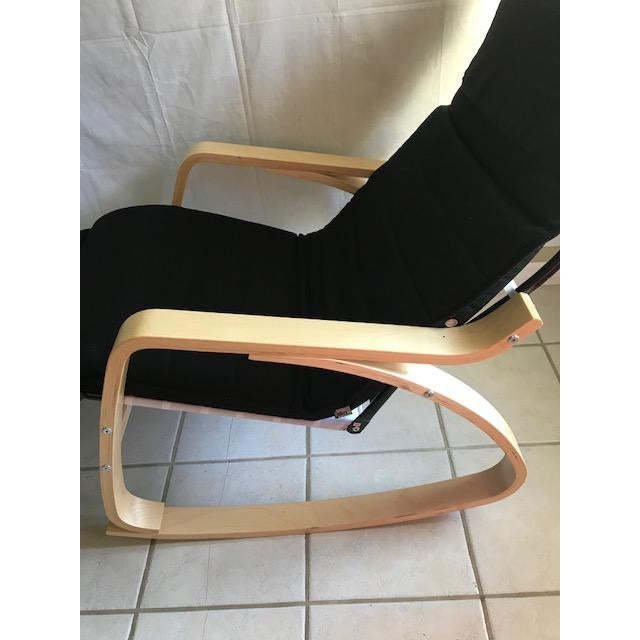Danish Modern Chaise Lounge- Bentwood, Rocker With Adjustable Footrest For Sale - Image 3 of 7