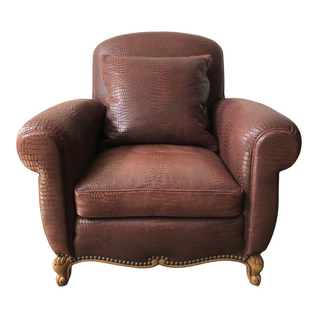 Ralph Lauren Home Marseilles Leather Club Chair For Sale