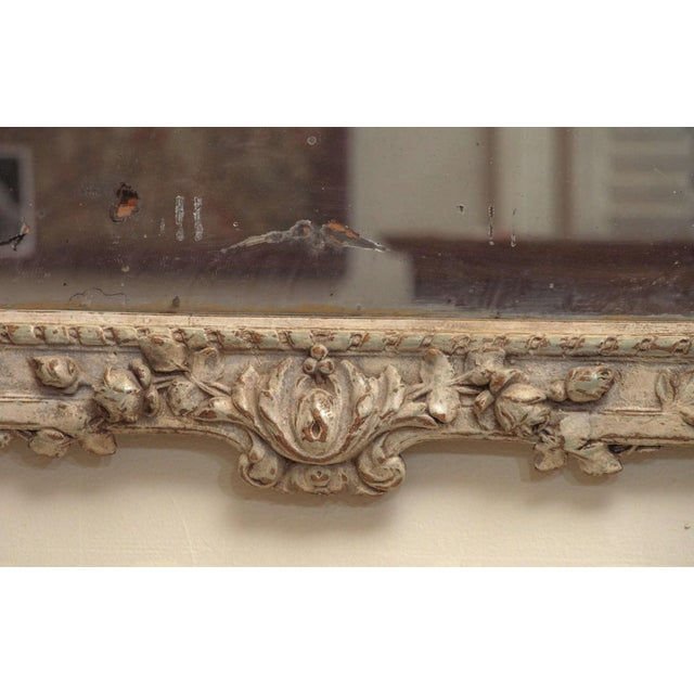 Louis XVI Painted Louis XVI Style Mirror For Sale - Image 3 of 8