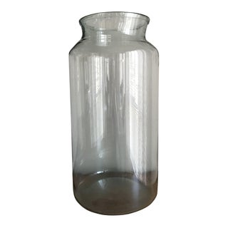 1930s European Glass Oversized Vase For Sale