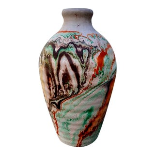 1960s Vintage Nemadji Pottery Vase For Sale