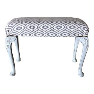19th Century Painted Swedish Queen Anne Bench