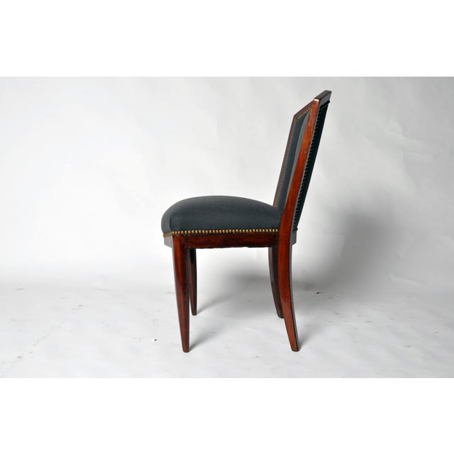 1940s Art Deco Dining Chairs - Set of 6 For Sale In Chicago - Image 6 of 10