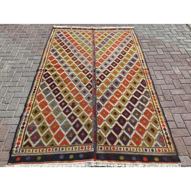 "Turkish Kilim Rug - 5'4"" X 9'1"" - Image 11 of 11"