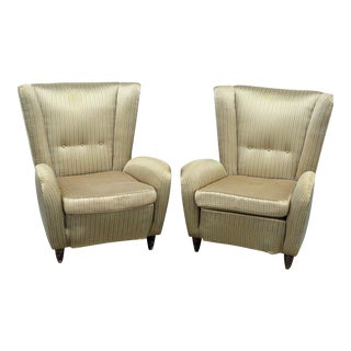 Pair of Italian Mid-Century Modern Lounge Chairs For Sale