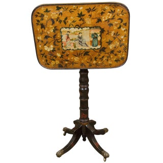 Rare Regency Chinoiserie Tilt-Top Table For Sale