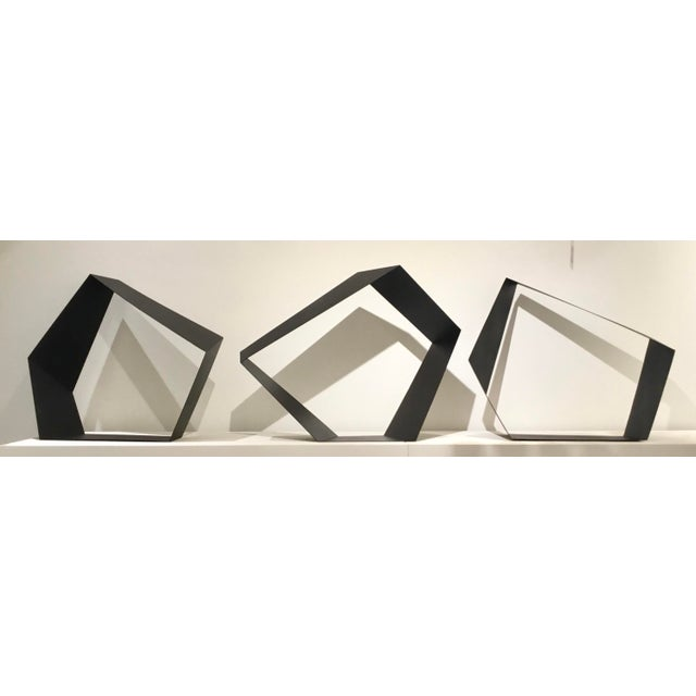 Baker Modern Black Metal Geometric Sculpture For Sale In Atlanta - Image 6 of 7