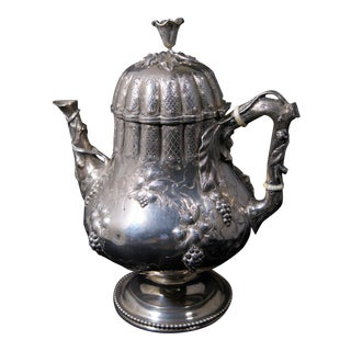C. 1860 James Conning Coin Silver(.900) Tea Pot For Sale