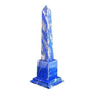 Blue Lapis Lazuli Chakra Pietra Dura Obelisk Tower For Sale
