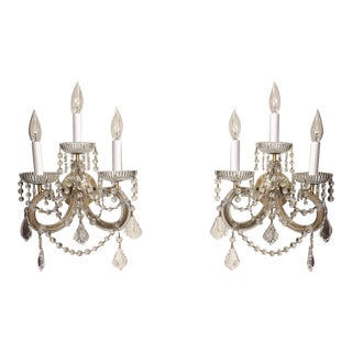Strass Maria Theresa Swarovski Strass Crystal Sconces - a Pair For Sale