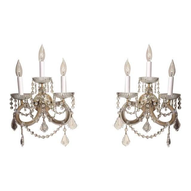 Strass Maria Theresa Swarovski Strass Crystal Sconces - a Pair For Sale