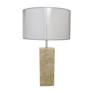 Mid-Century Modern Raymor Travertine Italian Marble Table Lamp MCM Flli Mannelli Style For Sale