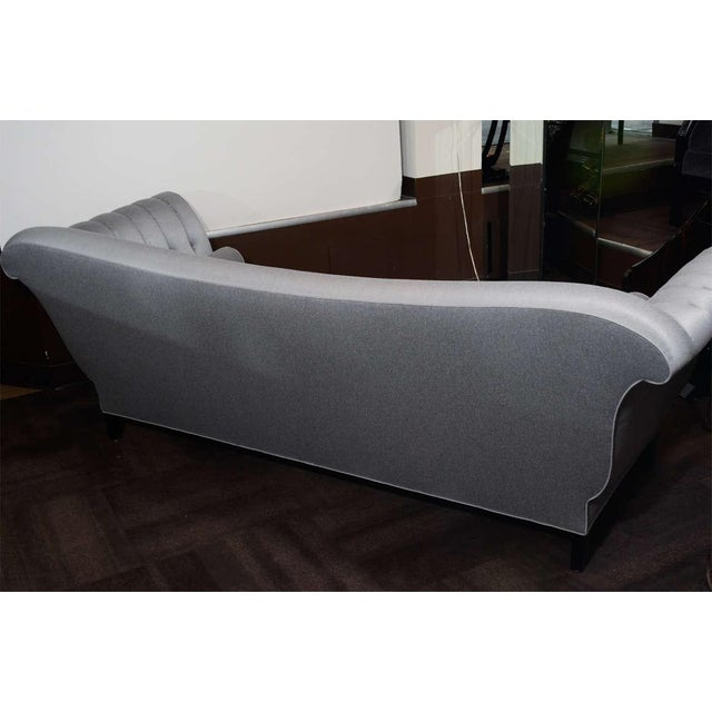 Textile 1940s Hollywood Scrolled Sofa For Sale - Image 7 of 11