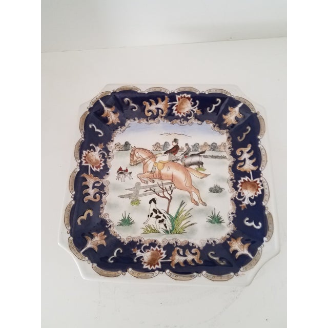 Vintage Porcelain Chinoiserie English Hunt Dresser Dish For Sale In Phoenix - Image 6 of 6