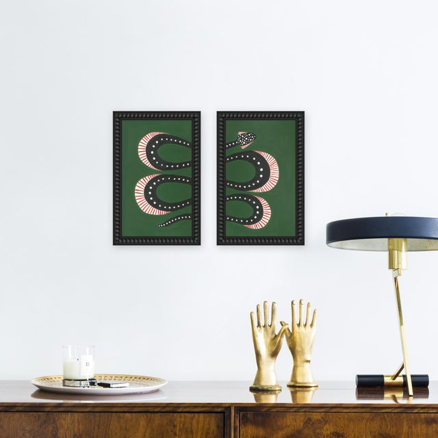 Giclée on textured fine art paper with black beaded frame. Willa Heart is the brainchild of dyslexic maximalist Alyssa...