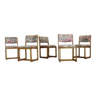 Set of 5 Mid-Century Danish Modern Teak Side Dining Chairs For Sale