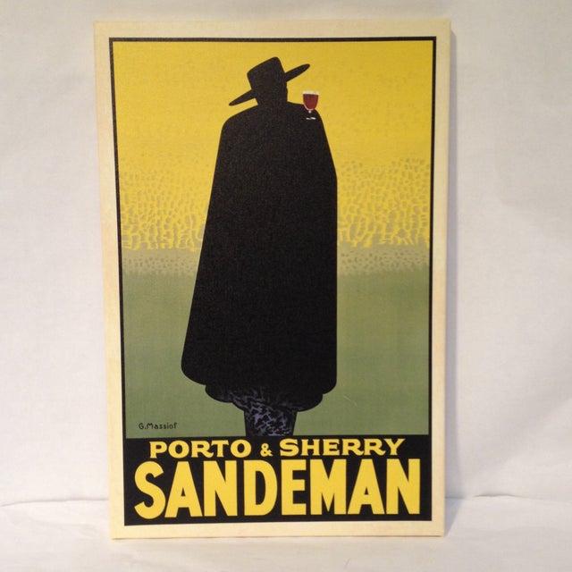 Vintage inspired Sandeman canvas print. Excellent quality canvas wrap. Beautiful colors.