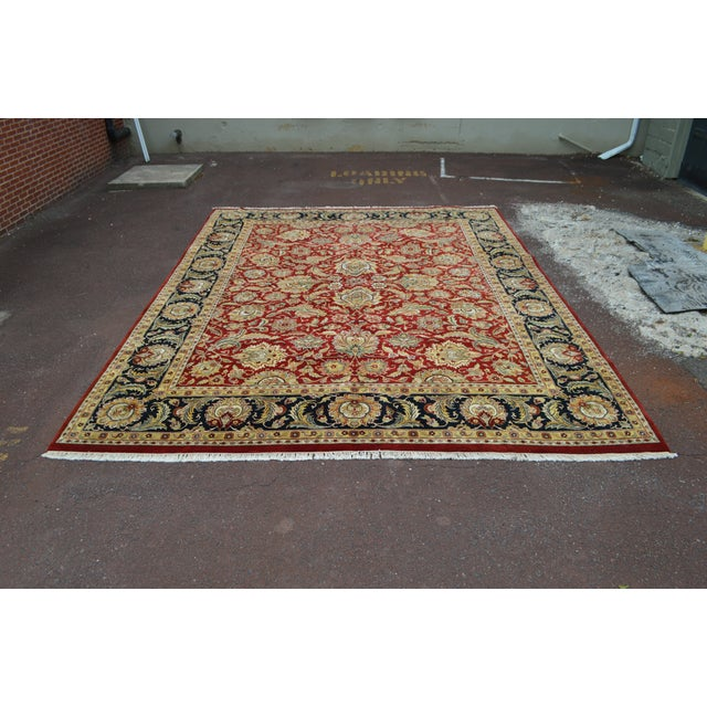 Isfahan 12x16 Hand Knotted Persian Rug For Sale - Image 5 of 10