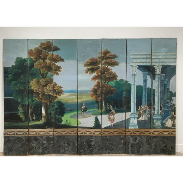 Wood Wallpaper Screen, France 19th Century For Sale - Image 7 of 7