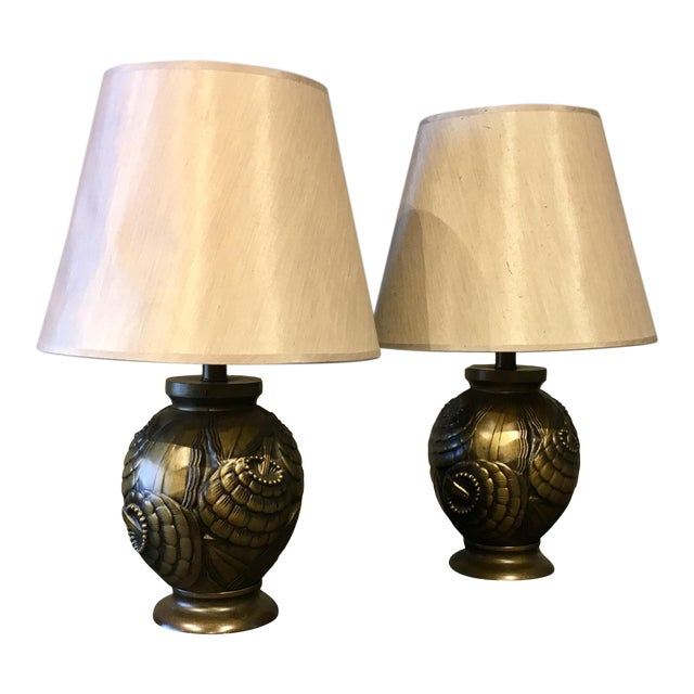 Frederick Cooper Deco Table Lamps - a Pair For Sale
