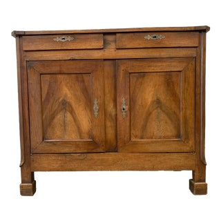 19th C French Antique Louis Philippe Walnut Buffet Sideboard For Sale