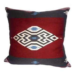 Large Eye Dazzler Indian Weaving Pillow For Sale