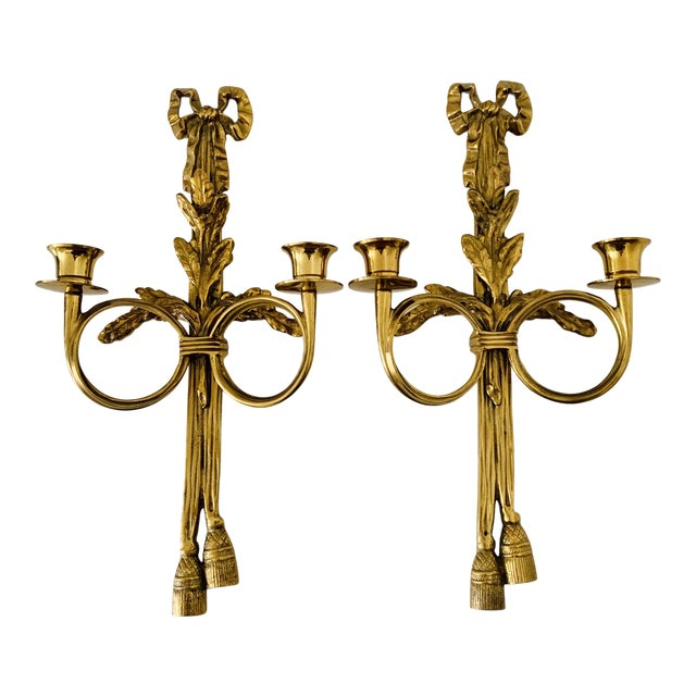 1970s French Neoclassical Wall Appliques - a Pair For Sale