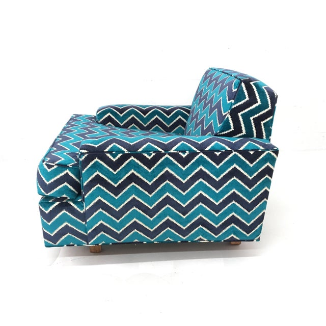 Mid-Century Modern Mid-Century Modern Zig Zag Lounge Chair For Sale - Image 3 of 4