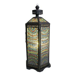 Rainbow Mosaic Iron Lantern For Sale