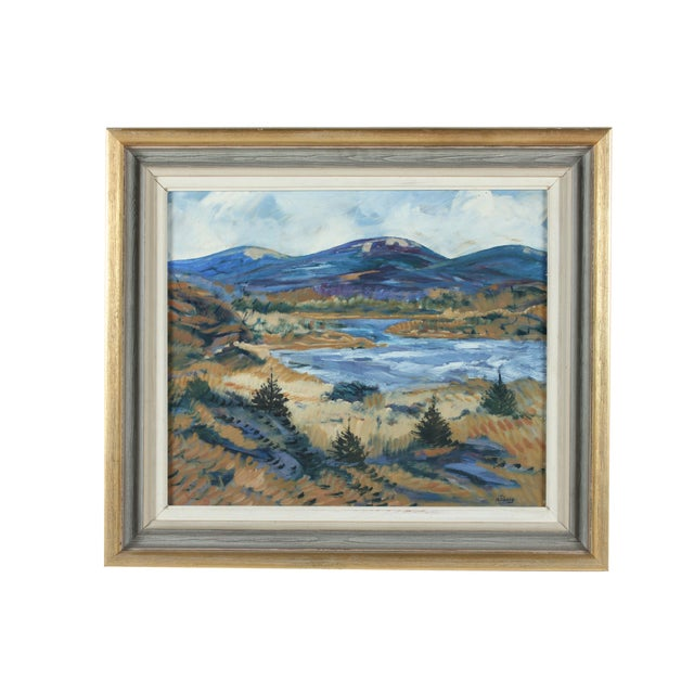 Framed Horsen Impressionist Oil Painting - Image 2 of 3